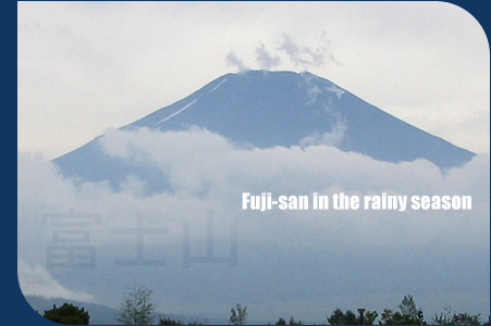 Parting clouds reveal Mount Fuji's ominous yet beautiful summit